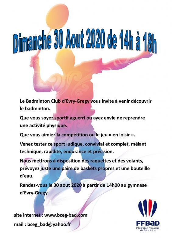 Flyer badminton 2020