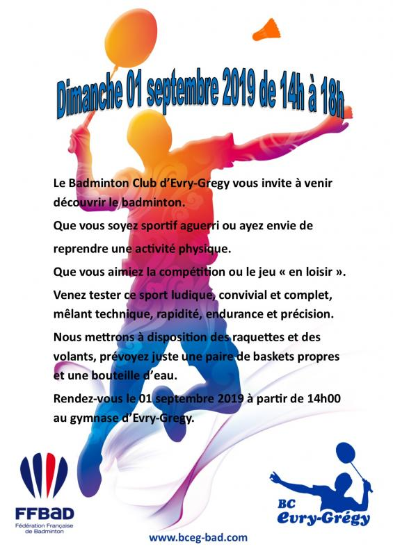 Flyer badminton a4 2019